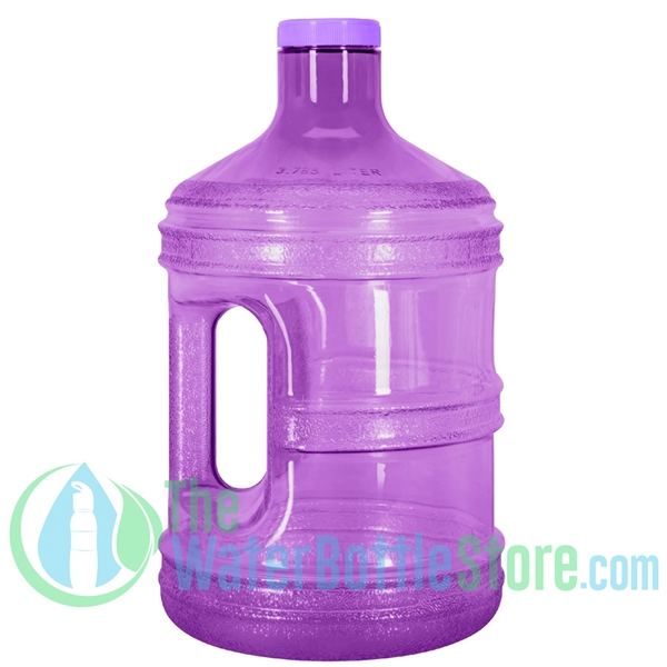1 Gallon Purple Round Water Bottle Handle