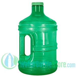 1 Gallon Green Round Water Bottle Handle