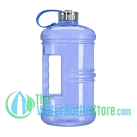 3 Liter 100oz Blue Reusable Water Bottle Handle Steel Cap