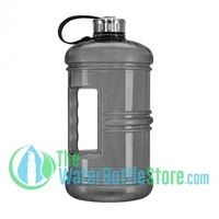 3 Liter 100oz Black Reusable Water Bottle Handle Steel Cap