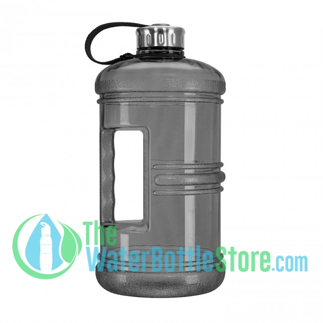 9eac4b309a 3 Liter 100oz Black Reusable Water Bottle with Handle Steel Cap ...