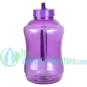 Half Gallon 56oz Purple Water Bottle Straw Handle