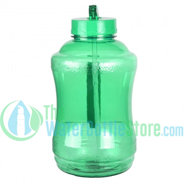 Half Gallon 56oz Green Water Bottle Straw Handle