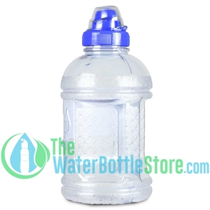 1 Liter 32oz Blue Water Bottle Sports Top Handle