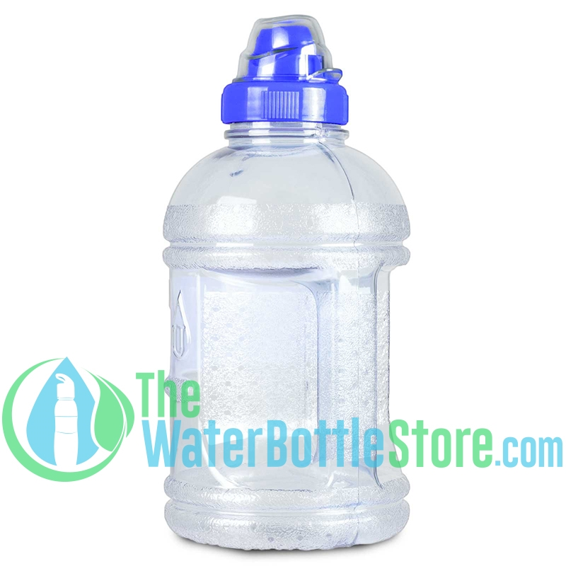7b6331f657 1 Liter 32oz Blue Water Bottle Sports Top & Handle ...