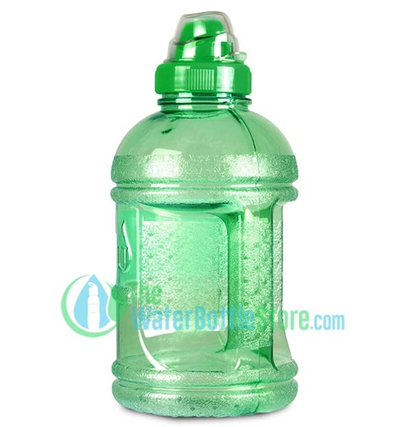1 Liter 32oz Green Water Bottle Sports Top Handle