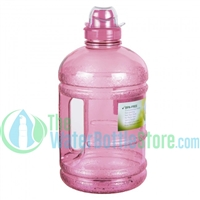 Half Gallon 64oz Pink Water Bottle Handle Sports Top