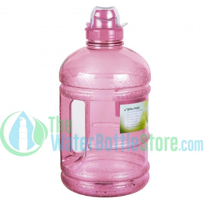 658b8dedb3 Half Gallon 64oz Pink Water Bottle Handle & Sports Top ...