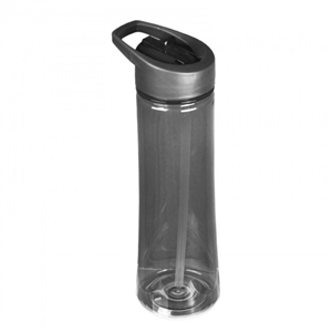 22oz Black Flip Straw Reusable Water Bottle