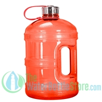 1 Gallon Red Water Bottle w/ Handle & Steel Cap