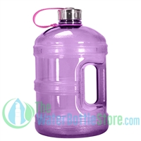 1 Gallon Purple Water Bottle w/ Handle & Steel Cap