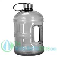 1 Gallon Black Water Bottle w/ Handle & Steel Cap