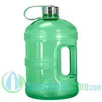 1 Gallon Green Water Bottle w/ Handle & Steel Cap
