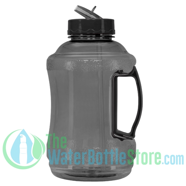 Half Gallon 56oz Black Water Bottle Straw Handle
