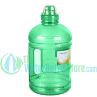 Half Gallon 64oz Green Water Bottle Handle Sports Top
