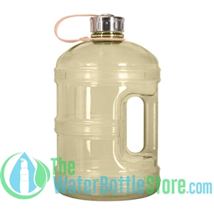 1 Gallon Yellow Water Bottle w/ Handle & Steel Cap