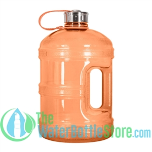 1 Gallon Orange Water Bottle w/ Handle & Steel Cap