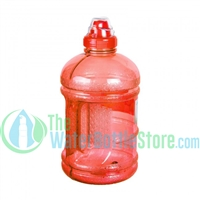 Half Gallon 64oz Red Water Bottle Handle Sports Top