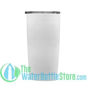 Geo 20oz Double Walled Vacuum Insulated Tumbler White