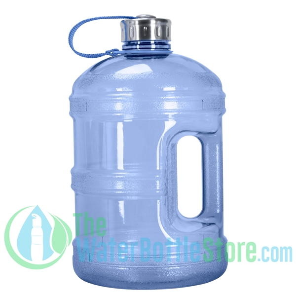 1 Gallon Dark Blue Water Bottle w/ Handle & Steel Cap