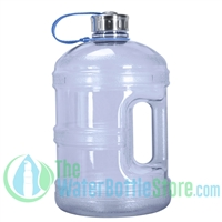 1 Gallon Light Blue Water Bottle w/ Handle & Steel Cap