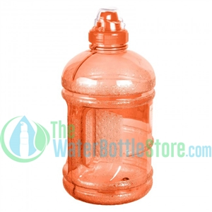 Half Gallon 64oz Orange Water Bottle Handle Sports Top