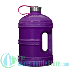 1 Gallon Solid Purple Water Bottle w/ Handle & Steel Cap