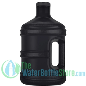 1 Gallon Solid Black Round Water Bottle Handle