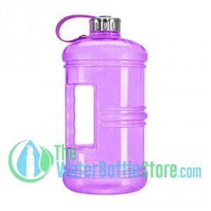 3 Liter 100oz Purple Reusable Water Bottle Handle Steel Cap