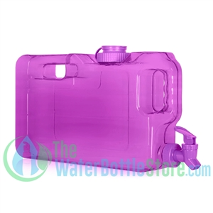 1 Gallon Purple Slimline Refrigerator Water Dispenser Container tap spigot