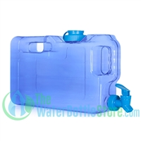 1.1 Gallon Dark Blue Refrigerator Water Dispenser Container tap spigot