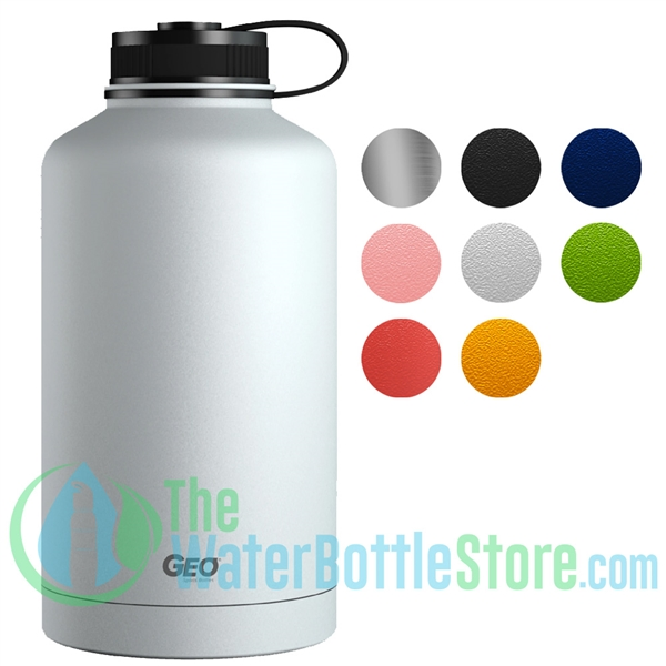 GEO 64oz Double Wall Insulated Vacuum Growler Flask