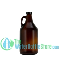 DTW 32oz(1 Liter) Amber Glass Jug Reusable Water Bottle