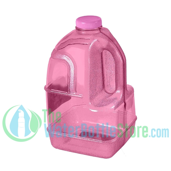 1 Gallon Pink Dairy Jug Water Bottle Handle