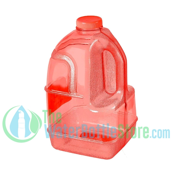 1 Gallon Red Dairy Jug Water Bottle Handle