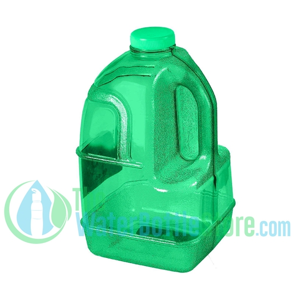 1 Gallon Green Dairy Jug Water Bottle Handle