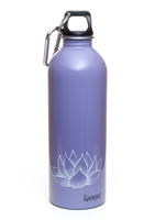 EarthLust 1 Liter Purple Lotus Stainless Steel Water Bottle