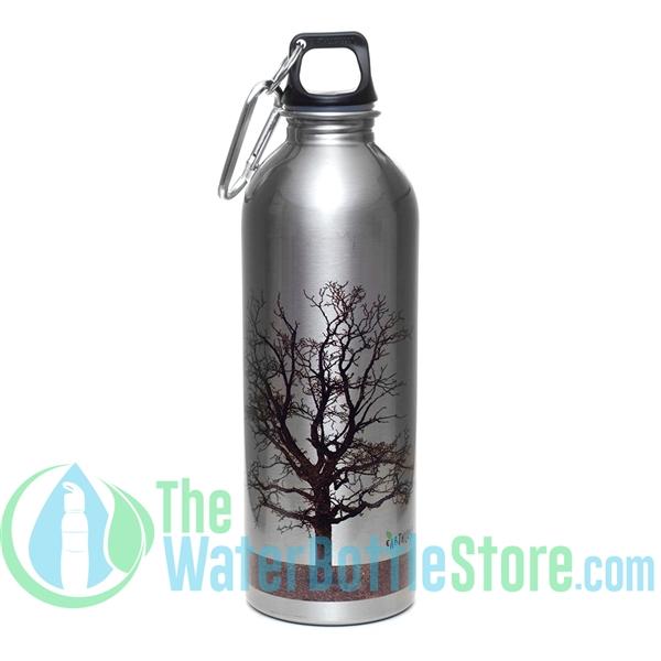 earthlust 1 liter tree stainless steel metal water bottle. Black Bedroom Furniture Sets. Home Design Ideas