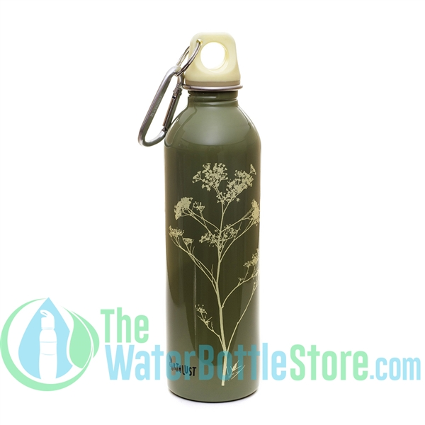 EarthLust 20 oz Green Parsley Stainless Steel Metal Water Bottle