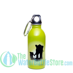 EarthLust 13 oz Elephant Stainless Steel Metal Water Bottle