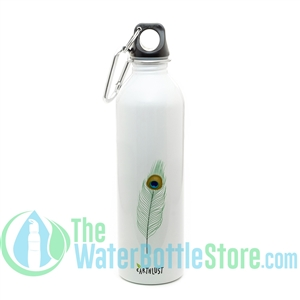 EarthLust 20 oz Peacock Family Stainless Steel Metal Water Bottle