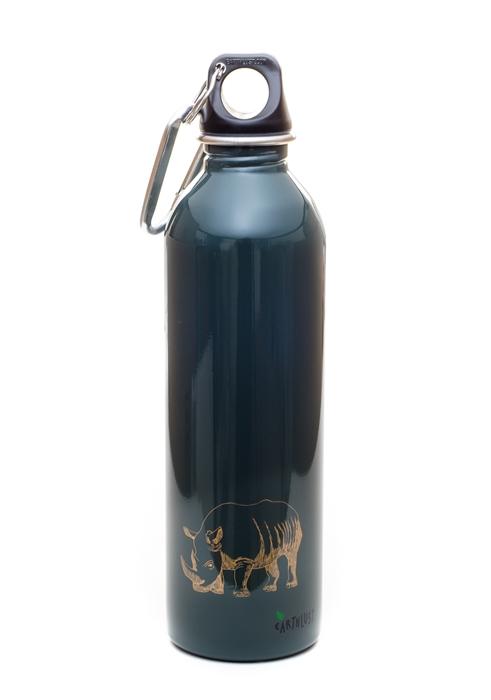 Earthlust 20 Oz Rhino Stainless Steel Metal Water Bottle