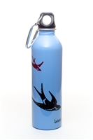 EarthLust 20 oz Swallow Stainless Steel Metal Water Bottle
