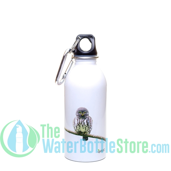 EarthLust 13 oz Owl Stainless Steel Metal Water Bottle