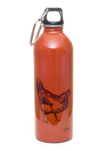 EarthLust 1 Liter Rooster Designer Stainless Steel Water Bottle