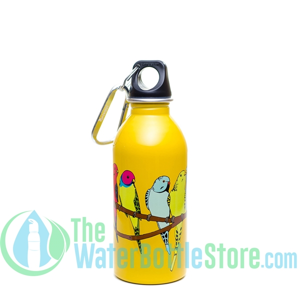 EarthLust 13 oz Parakeet Stainless Steel Metal Water Bottle