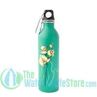 EarthLust 20 oz Orchid Stainless Steel Metal Water Bottle