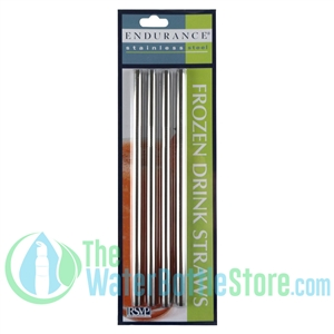 Endurance 4-pack Stainless Steel Straight Straw