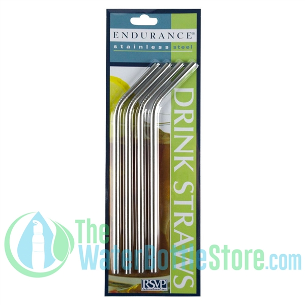Endurance 4-pack Stainless Steel Pre-curved Straw