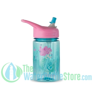 EcoVessel Splash 12oz Kids Straw Water Bottle - Mermaid